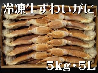 冷凍生ずわいがに 〔5kg・5L (11~12肩)〕 冷凍便