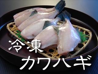 冷凍剥きカワハギ【鳥取県・兵庫県産】500g(4~7尾) 冷凍便