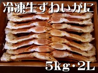 冷凍生ずわいがに 〔5kg・2L (19~21肩)〕 冷凍便