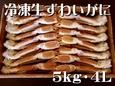 冷凍生ずわいがに 〔5kg・4L (14~15肩)〕 冷凍便